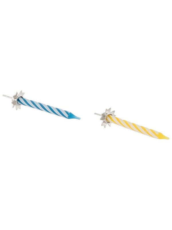 d'heygere candle holder drop earrings in blue