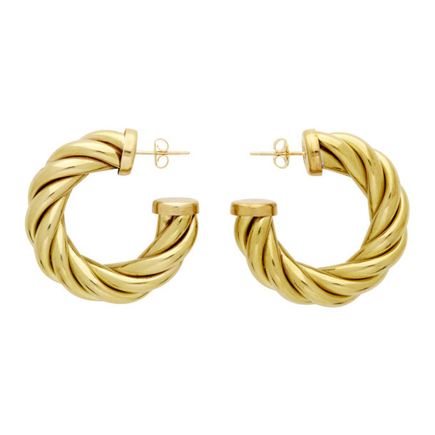 Laura Lombardi Gold Large Spira Hoop Earrings