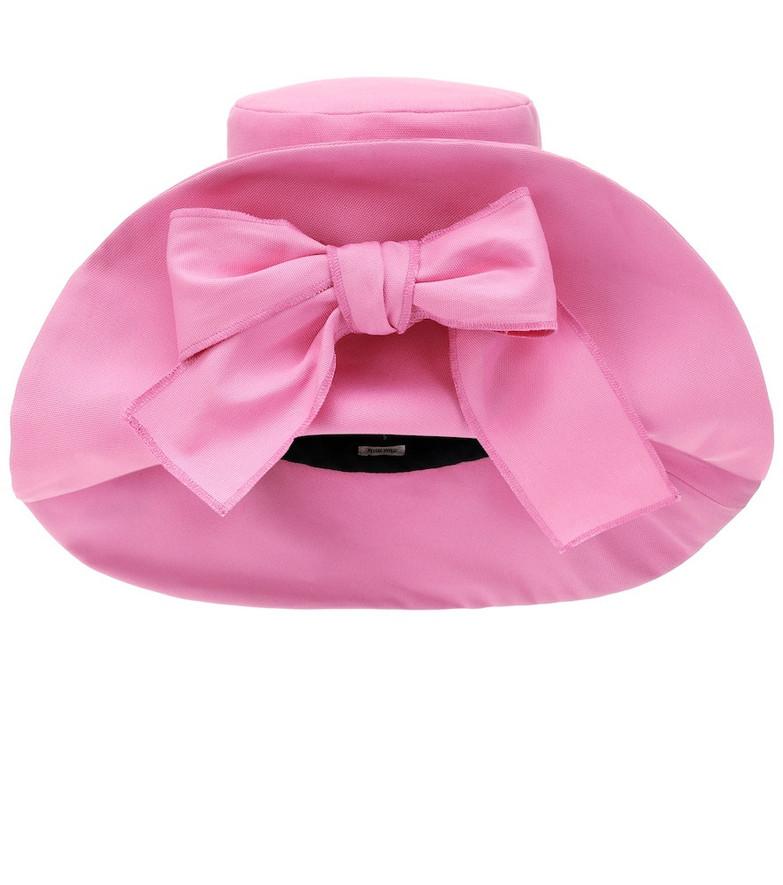 Miu Miu Cotton canvas hat in pink