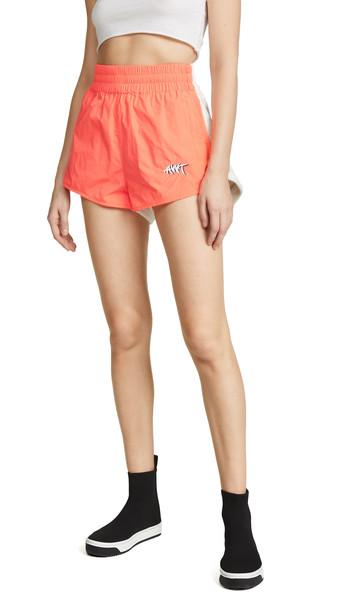 alexanderwang.t Washed Nylon Shorts in orange