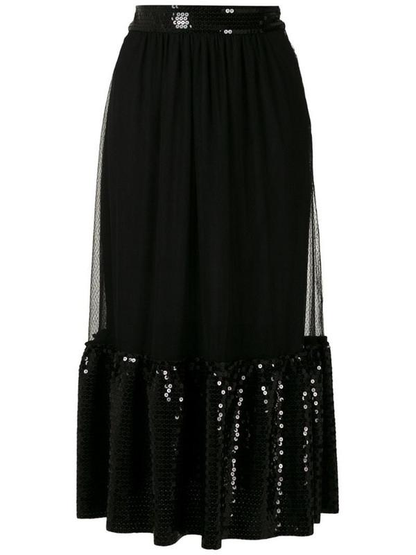Nk Cometa sequin midi skirt in black