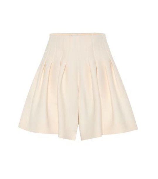 Valentino Wool and silk shorts in white