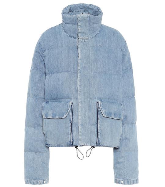 Unravel Denim down jacket in blue
