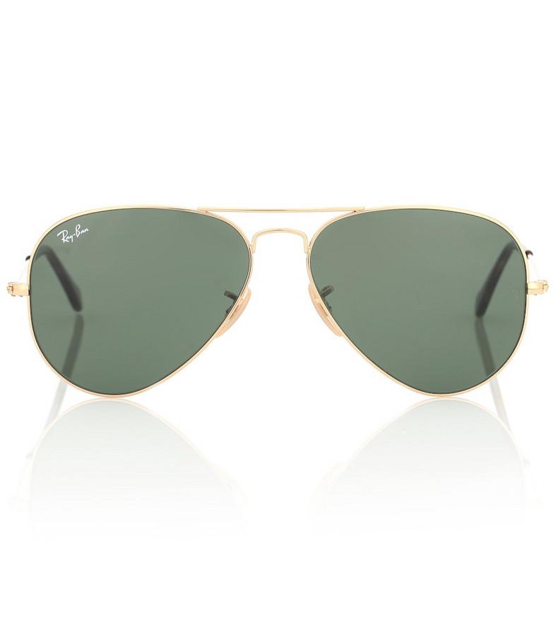 Ray-Ban RB3025 aviator sunglasses in green