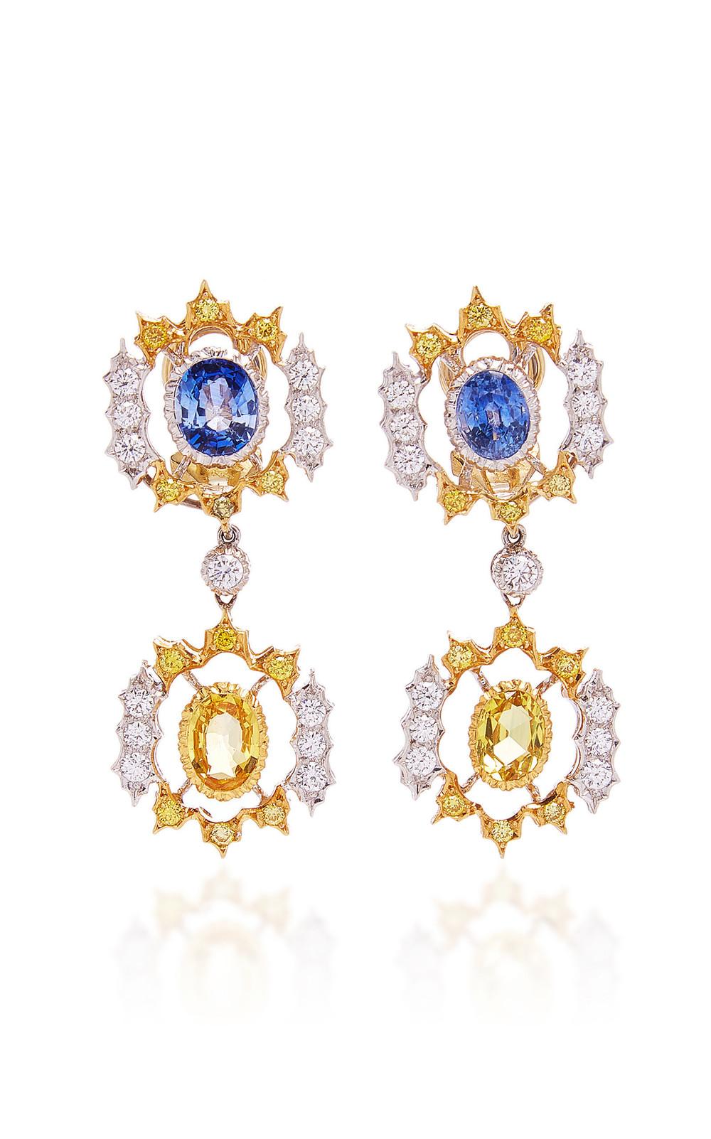 Buccellati Unica Pendant Earrings in multi