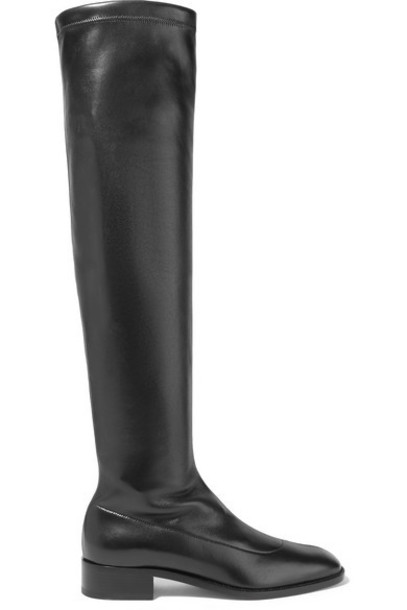 Christian Louboutin - Theophila 30 Stretch-leather Over-the-knee Sock Boots - Black