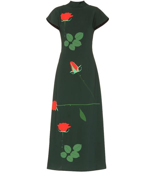 Bernadette Valentine printed dress in green