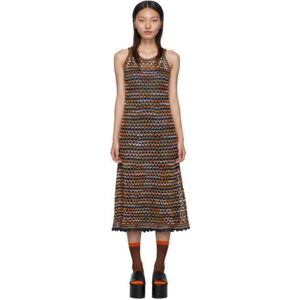 M Missoni Blue Crochet Dress