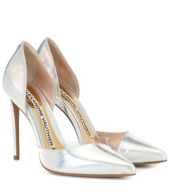 Alexandre Vauthier Angelina leather pumps in silver