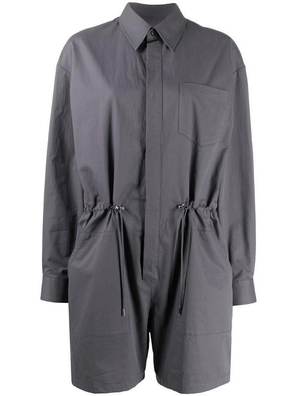 Maison Margiela drawstring waist playsuit in grey
