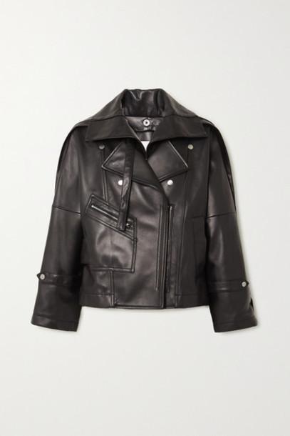 3.1 Phillip Lim - Belted Leather Biker Jacket - Black