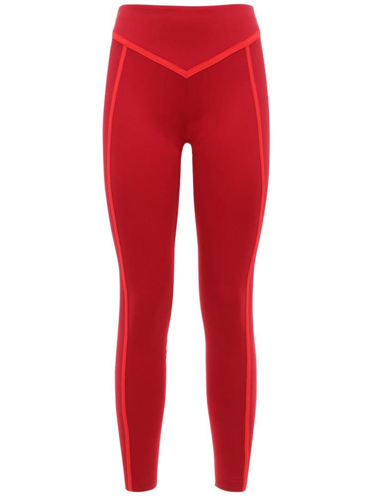 ERNEST LEOTY Corset Leggings in merlot / red