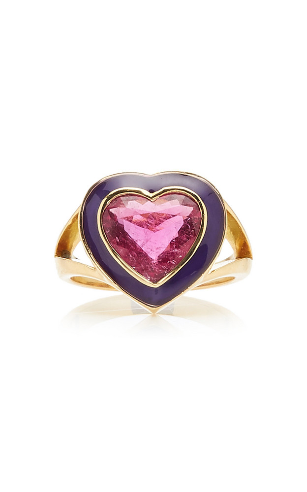 Yi Collection 18K Gold And Rubellite Ring Size: 6 in purple