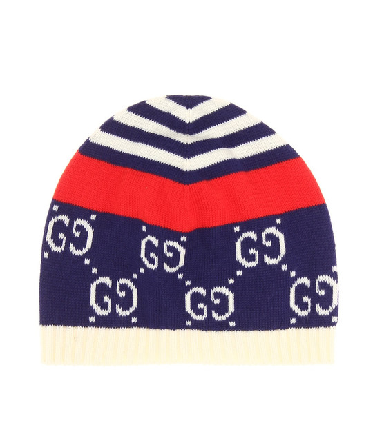 Gucci Kids Baby GG cotton beanie in blue