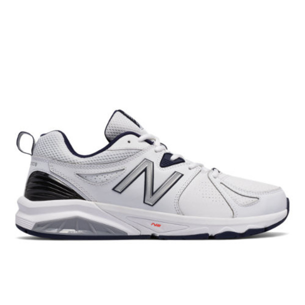 New Balance 857v2 Men's Everyday Trainers Shoes - White/Navy (MX857WN2)
