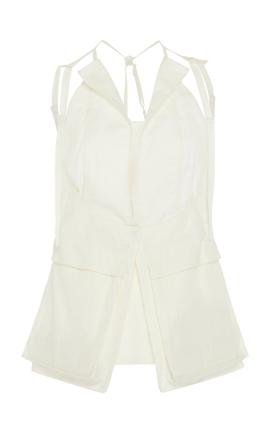 Jacquemus Le Haut Ascea Pocketed Harness Top in white