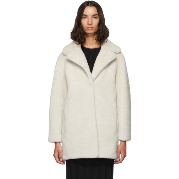 Yves Salomon - Meteo White Merino Short Coat