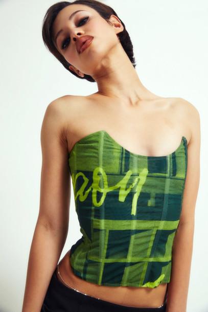 Miaou LEIA CORSET - STONE GREEN