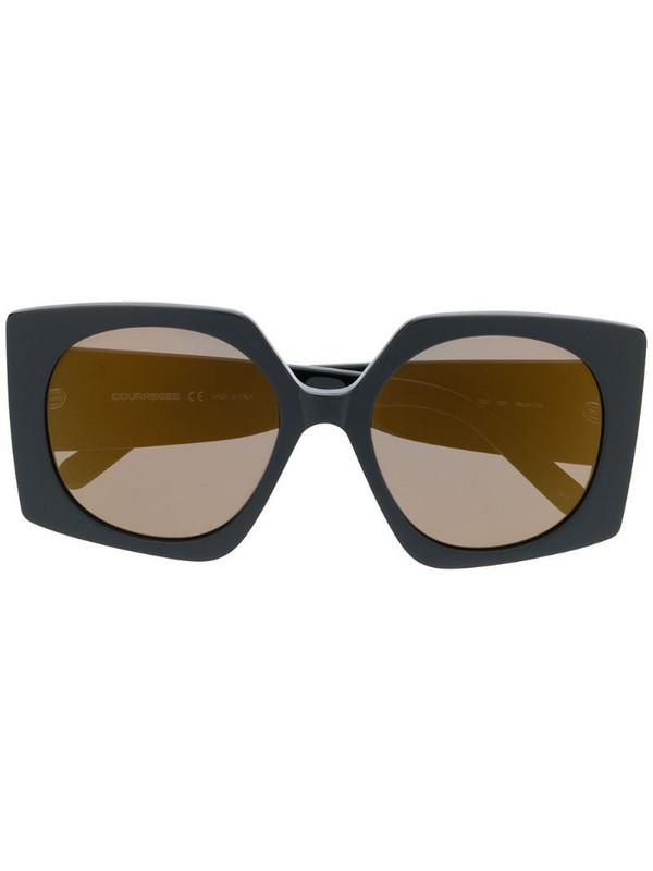 Courrèges Eyewear square-frame sunglasses in black