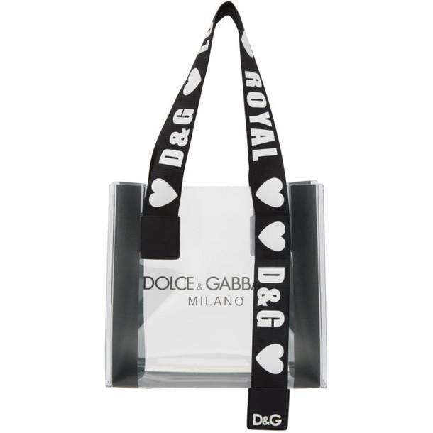 Dolce and Gabbana Dolce & Gabbana Transparent PVC Street Shopping Tote