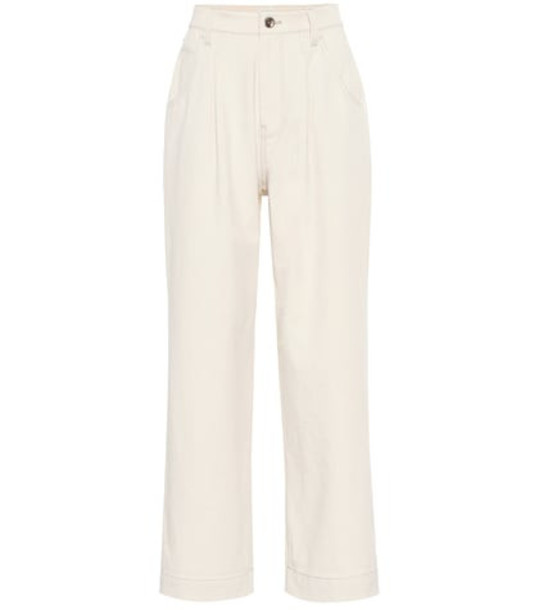 Brunello Cucinelli High-rise wide-leg jeans in white