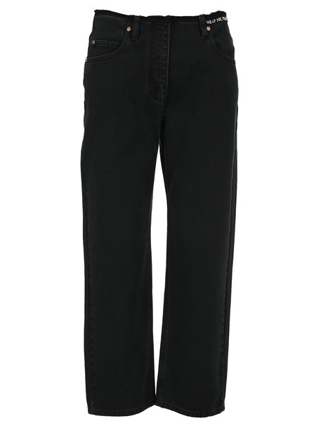Valentino Embroidered Jeans in black