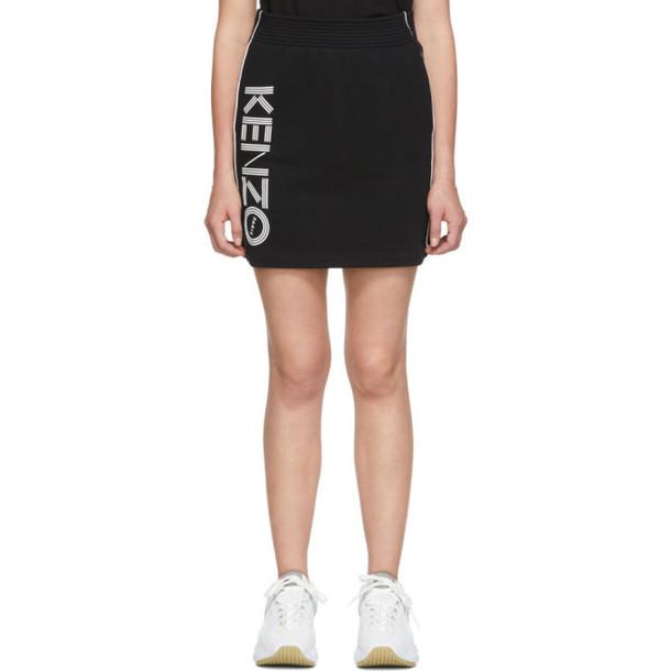 Kenzo Black & White Sport Logo Miniskirt