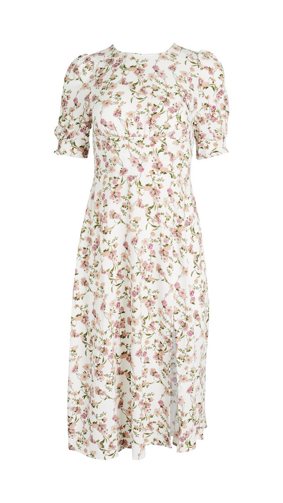 re:named re: named Allete Floral Midi Dress in ivory / multi