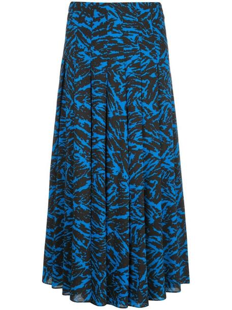 Jason Wu abstract print midi skirt in blue
