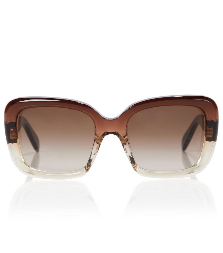 Celine Eyewear Square sunglasses in brown