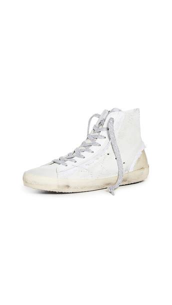 Golden Goose Francy Sneakers in silver / white