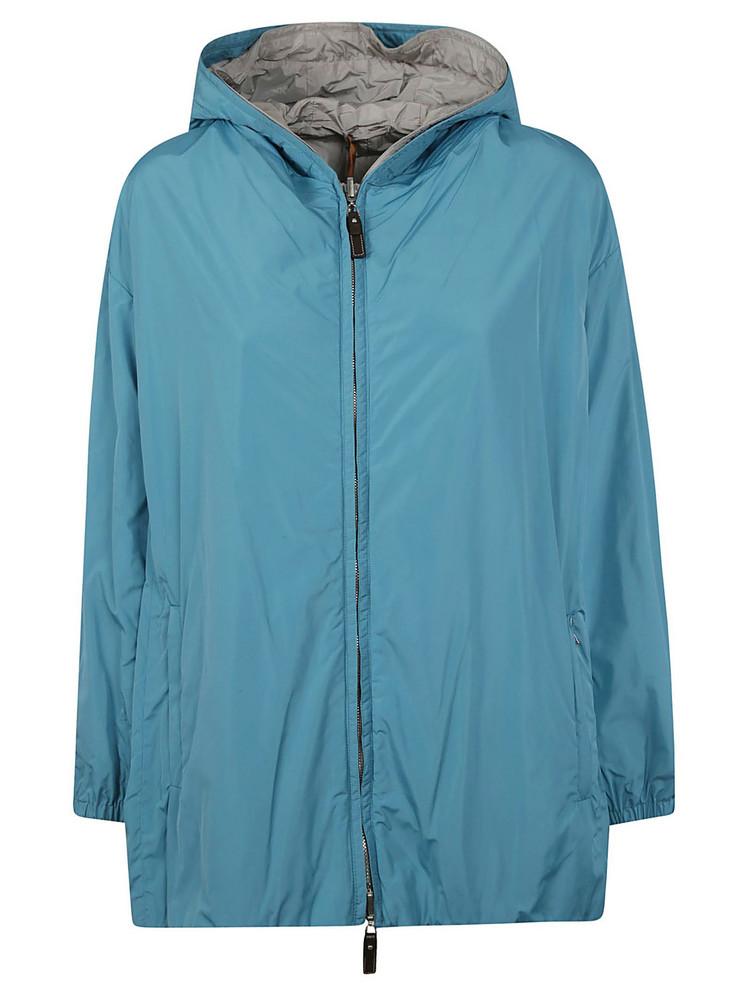 Max Mara Cube Reversible Hooded Jacket in blue