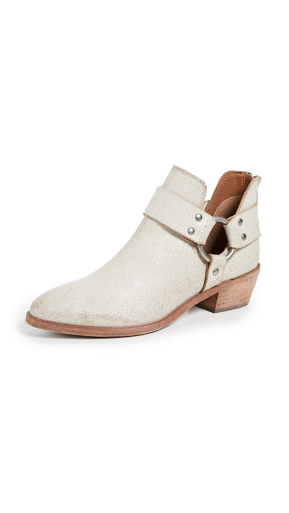Frye Ray Harness Back Zip Boots in white