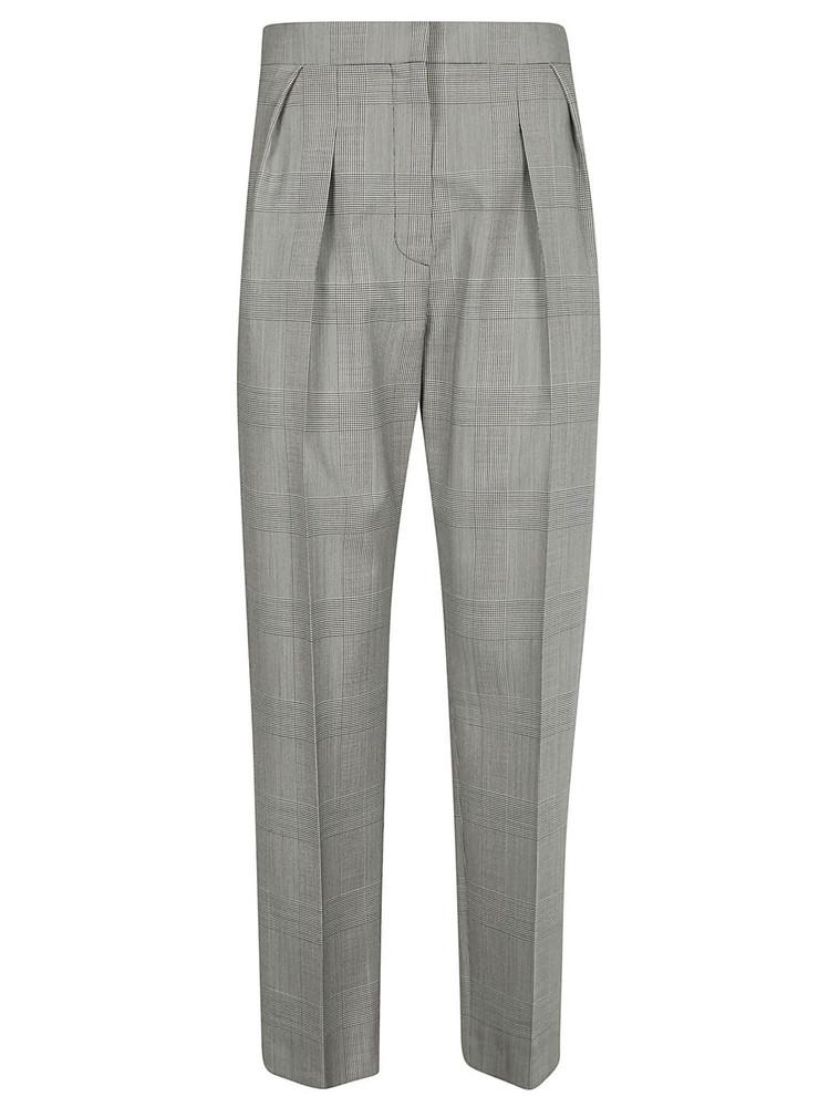 Max Mara Festa Check Trousers in bianco