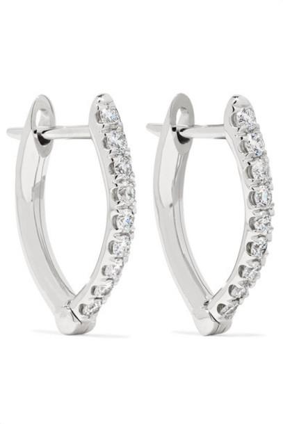 Melissa Kaye - Cristina Small 18-karat White Gold Diamond Earrings