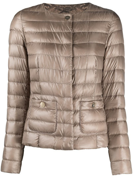 Herno tonal padded jacket in brown