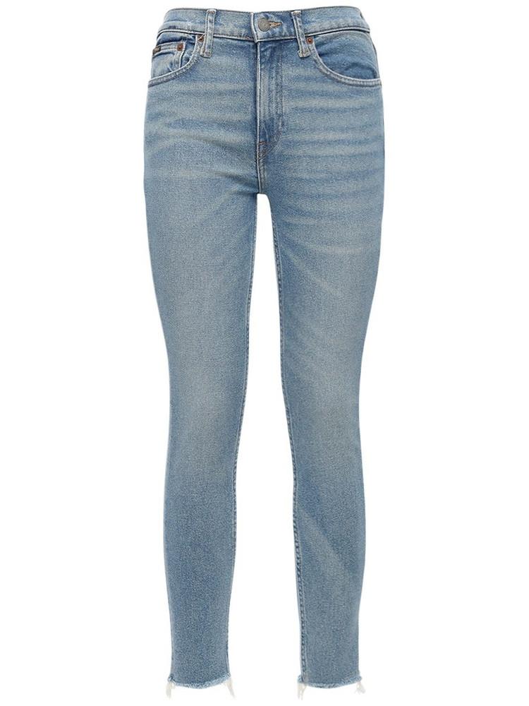POLO RALPH LAUREN Skinny Cotton Denim Jeans in blue