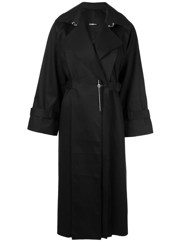 Boyarovskaya pin-embellished coat in black