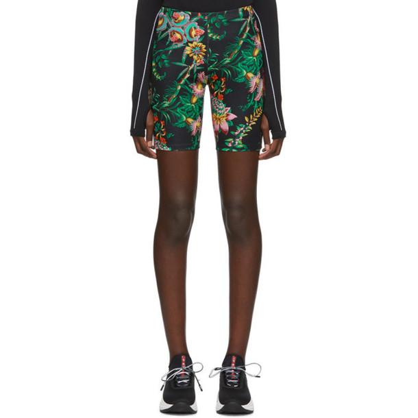 Paco Rabanne Black Viscose Printed Shorts