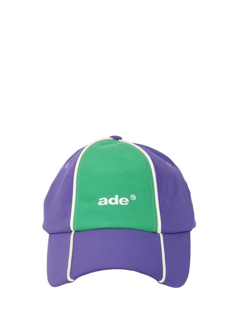 ADER ERROR Nylon Baseball Hat in green / purple