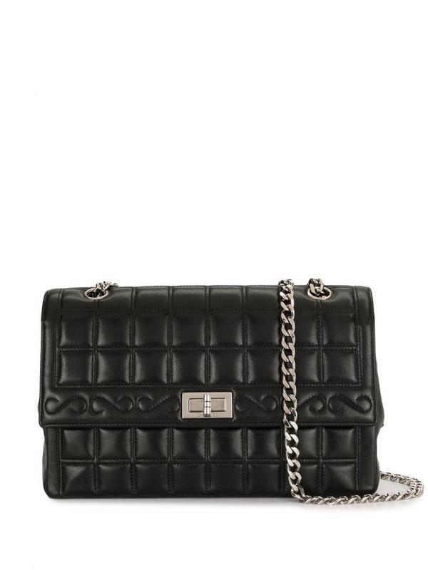 Chanel Pre-Owned 2000 Choco Bar 2.55 shoulder bag in black