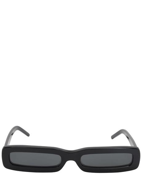 GEORGE KEBURIA Rectangular Acetate Sunglasses in black
