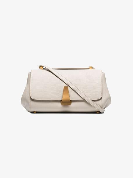 Bottega Veneta white small leather shoulder bag