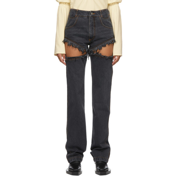 Telfar Black Thigh Hole Jeans