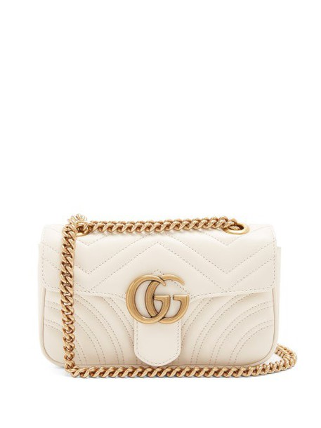 Gucci - Gg Marmont Mini Quilted Leather Cross Body Bag - Womens - White