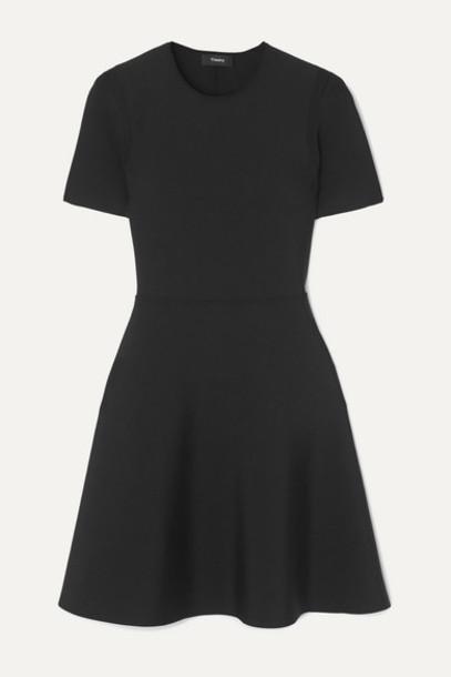 Theory - Stretch-knit Mini Dress - Black