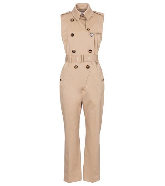 Burberry Cotton gabardine jumpsuit in beige