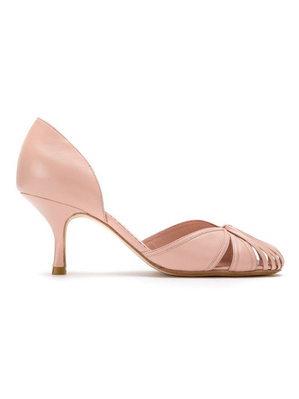Sarah Chofakian leather pumps in pink