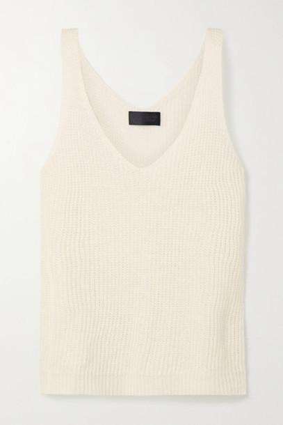 Nili Lotan - Nala Open-knit Linen Tank - Cream