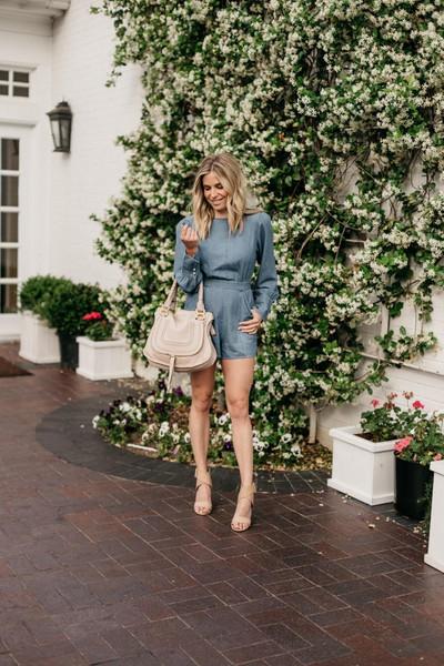 onesmallblonde blogger romper shoes